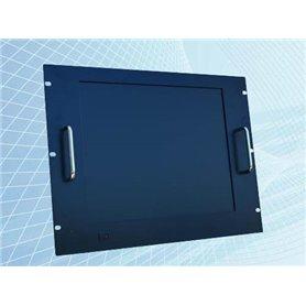 """Monitor 17"""" per fissaggio su armadi rack 8U, colore nero. Disponibile anche con touchscreen"""