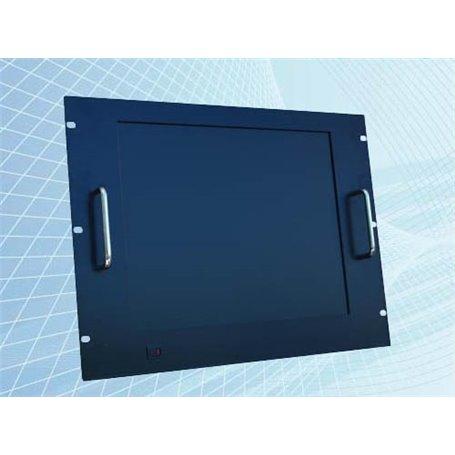 "Monitor Rack Panel 17"" 8U nero (touchscreen opzionale)"