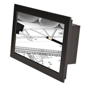 """Monitor 18,5"""" wide Full HD da pannello ad incasso frontale, IP65, con touchscreen resistivo (su richiesta anche senza touch)"""