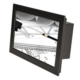 "Monitor Rack Panel 21,5"" nero (touchscreen opzionale)"