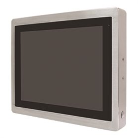 "Panel PC 7"" / 10"" / 12"" / 15"" / 17"" / 19"" / 21"" IP66 / IP69K frontale in acciaio inox, CPU Celeron 1,8Ghz, touchscreen opzionale"
