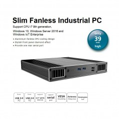 Kimera Serial: PC industriale fanless, CPU i3 / i5 / i7, Seriale RS-232. Slim design