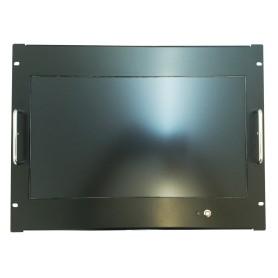 "Monitor Rack Panel 18.5"" 8U Full HD black (optional touchscreen)"