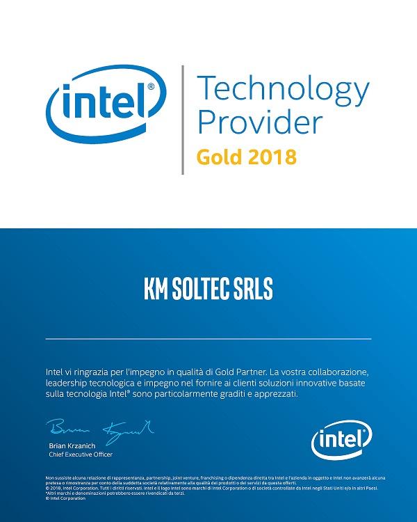 Certificato KM Soltec Intel Gold 2018